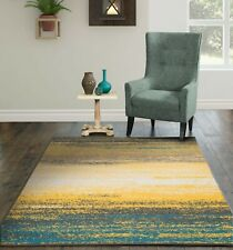 Modern Area Rugs for Living Room Yellow 8x10 Indoor/Outdoor Patio Carpet