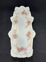 """Star"" Made in Austria Rectangular Celery Dish Bowl Plate Pink Flowers"