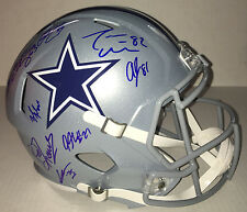 2017 DALLAS COWBOYS TEAM Signed Autographed SPEED Football Helmet COA! SB CHAMPS