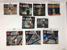 NEU+OVP LEGO Star Wars Polybag Sammlung Konvolut Raumschiffe + Figuren! New!