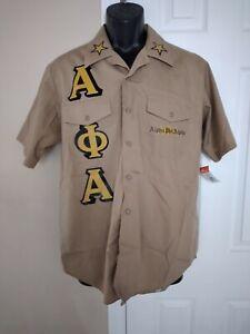 alpha phi alpha military shirt Men's XL
