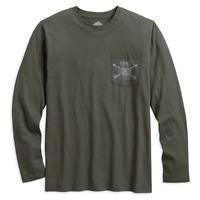 Harley-Davidson® Men's HDMC Arrow Slim Fit Long Sleeve Shirt 96442-18VM