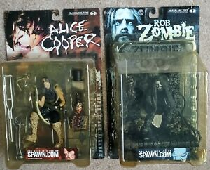 McFarlane Rob Zombie And Alice Cooper Figures