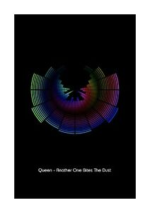 Queen - Another One Bites The Dust - Sound Wave Vector Art Print - A4 Size