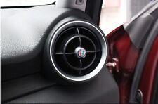Coppia Logo bocchette aria condizionata Per Alfa Romeo Giulia Stelvio