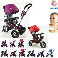 Kids My First Trike Boys Girls Ride On Bike Parent Handle Push Along Tricycle UK