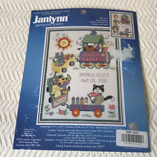 Janlynn Baby Birth Record Counted Cross Stitch Kit Kitten Express #021-1373 NEW