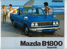 Two 1977 MAZDA B1800 PICKUP and SUPERUTE Brochures Australian & RHD B-SERIES