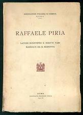 RAFFAELE PIRIA LAVORI SCIENTIFICI E SCRITTI VARI RACCOLTI DA D. MAROTTA 1932