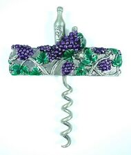 Hand painted Wine pull Grapevine design solid Pewter