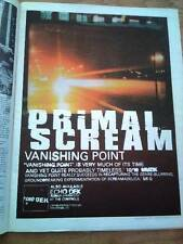 "PRIMAL SCREAM Vanishing Point 1997 UK Poster size Press ADVERT 16x12"""