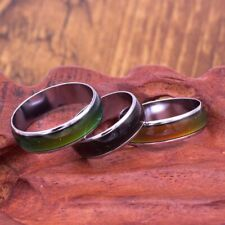 Change Color Ring Temperature Stainless Steel Rings Mood Ring Men Titanium Gift