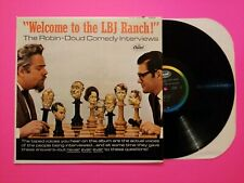 Comedy Lp Earle Doud & Alen Robin Welcome To The Lbj Ranch Capitol W2423 VG++/EX