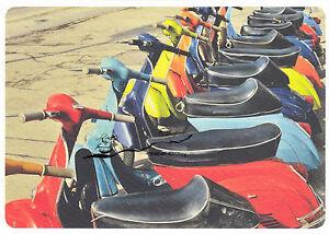 Kunstkarte: Rolf Blesch - Rollerparade / Vespa