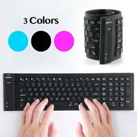 Silicone Keyboard Bluetooth 3.0 Wireless Flexible Waterproof for PC Laptop Phone