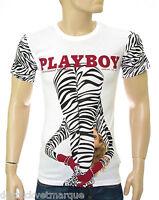 ELEVEN PARIS Playboy Tee shirt homme blanc white 14F1LT092 Playure taille XS