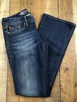 """Express Stella Boot Low Rise Dark Wash Women's Jeans Size 2R 29x32 Rise 7"""""""