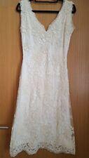 Phase Eight One Lace Florentine wedding dress Ivory Size 10 Uk With Shoes Size 4