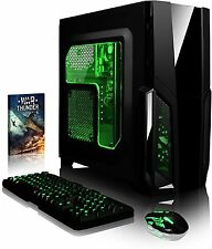 Ultimate Gaming PC Green, 3.8GHz AMD A8 Quad Core, Radeon R7 GPU, 16GB RAM, 1TB