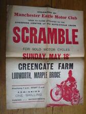 MANCHESTER EAGLE MOTOR CLUB GREENGATE FARM SCRAMBLE ORIGINAL POSTER 1960's