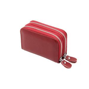 Noble Bags Lola Double Pocket Card & Münzen Etui Red Leder RFID Stop *UVP 29€*