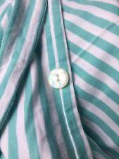 The Company Store Cotton Jersey Knit Queen Duvet Aqua White Stripe Portugal