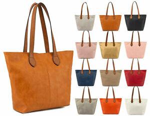 Women Designer Shoulder Bag Tote Medium Handbag Lady Messenger Faux Leather
