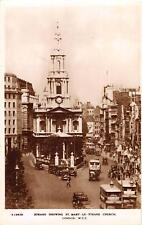 uk32953 strand showing st mary le strand london real photo  uk bus car oldtimer