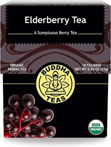 Organic Elderberry Tea by Buddha Teas - 18 Tea Bags