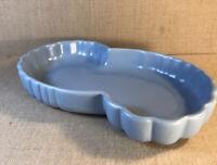 Vintage Haeger Kidney Shaped Ceramic Low Bowl Blue