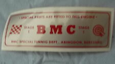 CLASSIC MINI (BMC STAGE 1 ROCKER COVER STICKER)
