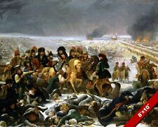 NAPOLEON ON BATTLEFIELD BATTLE OF EYLAU PRUSSIA PAINTING ART REAL CANVAS PRINT