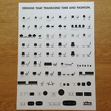 Retro 1980's Herman Miller / Eames Vitra Chair Poster feat Lounge Chair