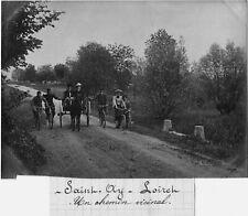 FRANCE Loiret , 1904. SAINT AY un chemin vicinal