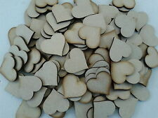 50 Laser Cut Wooden Heart Shapes 50 x 50mm 3mm MDF Wedding Crafts