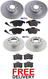 FOR AUDI A3 MK2 2.0 TDI (2003-2011) FRONT AND REAR BRAKE DISCS & PADS SET *NEW*