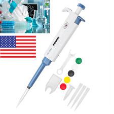 200-1000μl Micro Transfer Pipette Volume Adjustable Pipette Pipet Pipettor US