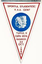KAA Gent Pennant Sportul Studentesc Romania Football Champions League 1986