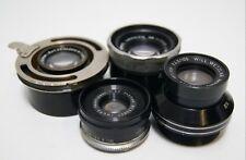 4 vintage enlarger lens Zeiss Tessar, Will Wetzlar Wilon, Wray, Imura old camera