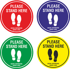 Social Distancing Floor Markers/Stickers FEET - Non Slip  - Queue Place Marker