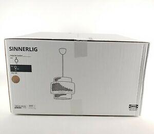 "Ikea Sinnerlig Pendant Lamp Bamboo Handmade Sealed New 21""x20"""