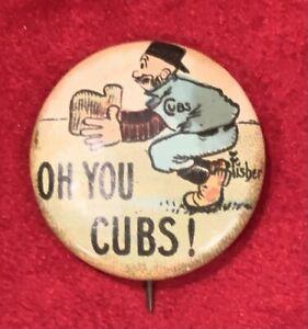 Antique Circa 1910 Chicago Cubs Oh You Cubs Tokio Cigarettes Baseball Pin Early