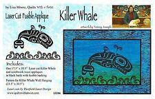 Killer Whale Laser Cut Fusible Appliqué Quilting Appliqué Only, by Lisa Moore