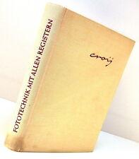 Croy Fototechnik mit allen Registern Buch Dr. Otto Croy 1958 book livre - 12787