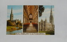 Wiltshire - Salisbury Cathedral - Multi-Picture Postcard - 1976