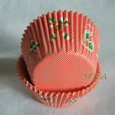 100 red mini dot Xmas candycane  gift cupcake liners christmas party baking cup