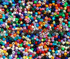 500 Multi Colors 9x6mm Pony Beads  made in USA school crafts jewelry kids kandi