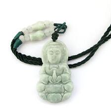 Natural Jadeite Jade Tibet Buddhist Kwan Yin Bodhisattva Amulet Pendant