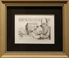 "Charles Bragg ""Day Traders"" Hand Signed w/custom frame MAKE AN OFFER!"
