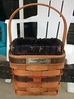 Longaberger 1993 INAUGURAL BASKET with Liner & Protector Signed BDH